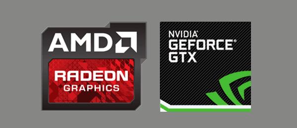 geforce gtx и amd radeon логотипы