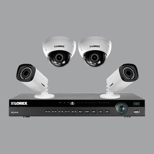 система из камер купольных и настенных с регистратором