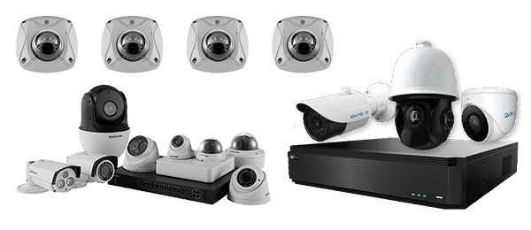 купольные и настенные камеры с видеорегистраторами