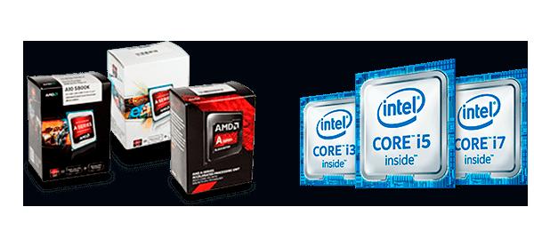 процессоры AMD FX и Intel core i3 i5 i7